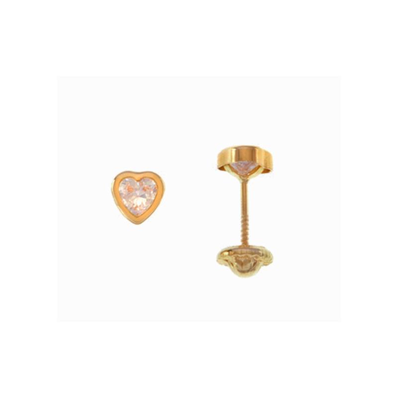 3e66e09d5a76 al mejor precio Topitos en oro solido real Bebe Corazón Circonita 3 Mm    Bentley